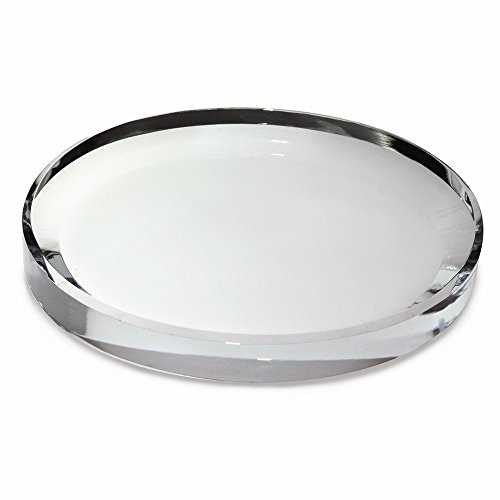 Jewels By Lux Oval Glass Paperweight