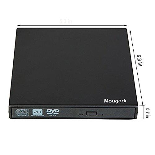 Mougerk USB External CD DVD Drive, Portable CD DVD Player +/-RW Drive DVD/CD Rom Rewriter Burner Writer For Win 7/8.1/10 Laptop Desktop PC of Lenovo HP Dell Asus Macbook Pro by Mougerk (Image #5)