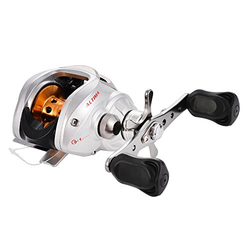 Isafish baitcaster reels left right handed baitcasting for Left handed fishing reels