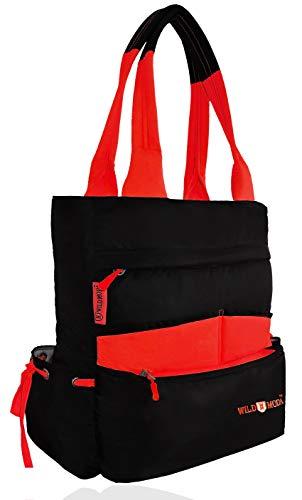 WildModa Pentagon Women #39;s Shoulder Bag  Black  amp; Red