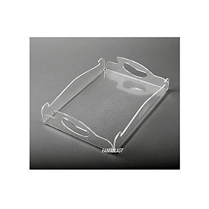 Faberplast Bandeja Buffet, Metacrilato, 26x36x3.5 cm