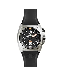 Bell & Ross Men's 45mm Automatic Black Rubber Sapphire Glass Date Watch BR0220CA