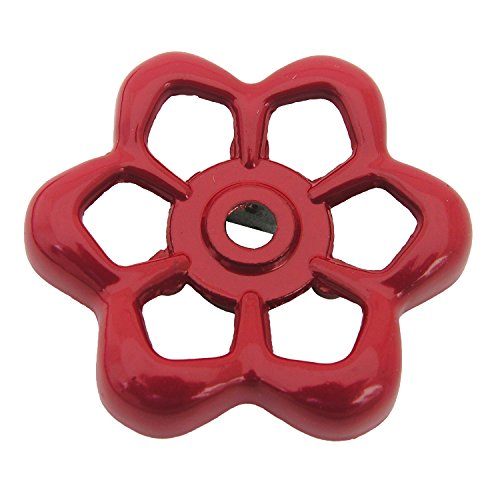 (LASCO 01-5131 Square Broach Metal Outside Faucet Hose Bibb Replacement Round Wheel Handle, 1-7/8