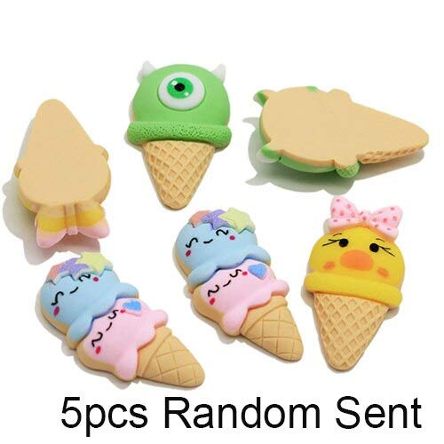 Slime charms Addition to Slime Slices Supplies Cute Charms Ice Cream Kit Filler for Clear Slime Clay Toy 5