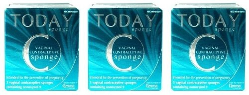 Today Sponge Vaginal Contraceptive Sponges 3 ct (3 Boxes - 9 Sponges Total)