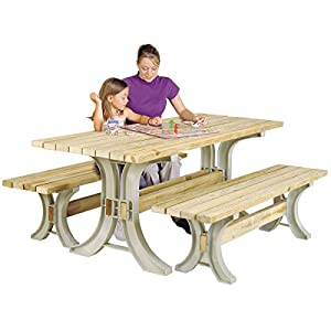 Hopkins 90182ONLMI 2x4basics Picnic Table Kit, Sand (Frames Only)