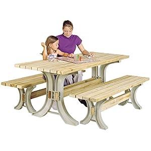 Hopkins 90182ONLMI 2x4basics Picnic Table Kit, Sand (Frames Only)
