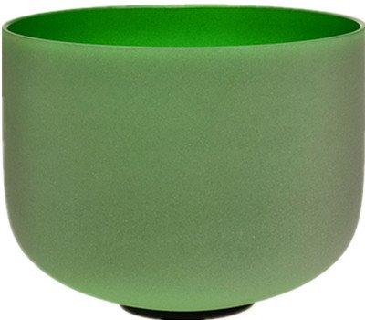 TOPFUND 色付き艶消しクリスタルシンギングボウル 各音程あり 12インチ (緑 音程F) B019DQ5GHS 緑 音程F 緑 音程F