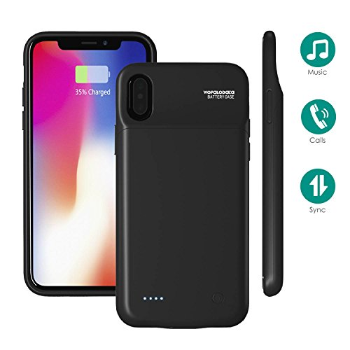 iPhone X Battery Case,iPhone 10 Battery Charger Cases,3200mAh Juice Pack Portable Extended Power Bank,Support Lighting Headphone and Calls for iPhone X/iPhone 10