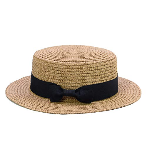 Sandy Ting Straw Hats Kids Boys Girls Skimmer Hat Sun Beach Panama Hat -