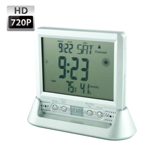 Lawmate PV-TM10 Motion Activated 720P HD Desk Weather Station Clock Hidden Covert Spy Camera by Lawmate