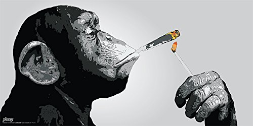 Monkey Smoking Decorative Graffiti Poster product image