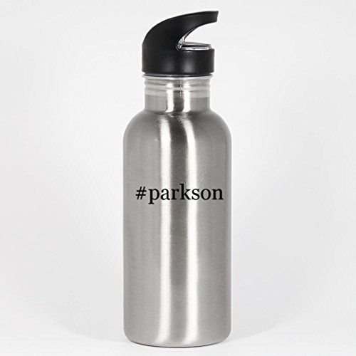 parkson-20oz-silver-stainless-steel-hashtag-water-bottle