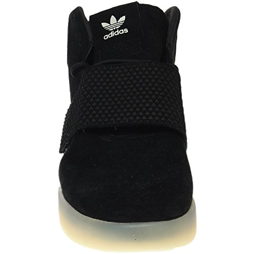 adidas Originals Mens Tubular Invader Strap Shoes Core Black / Core Black / Vintage White Tbin30
