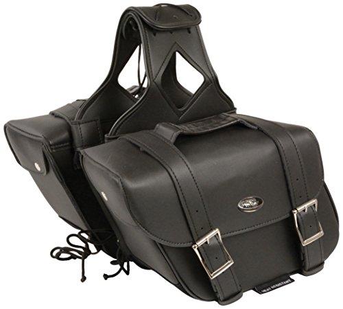 - Milwaukee SH58001ZB-BLK-PCS Black Medium Two Strap PVC Zip-Off Bag (12X9X5X18)