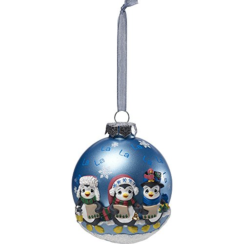- Precious Moments Caroling Penguins Glass Ball Ornament With Resin Decorations 171412