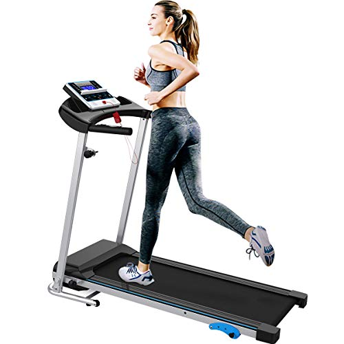 Merax Folding Treadmill Easy Assembly Electric Motorized Running Jogging Machine for Home (Grey)
