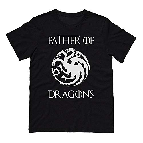 Father of Dragons Geeky Father's Day Shirt Unisex Large Black