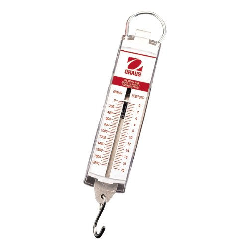 Ohaus 8002-MA Pull-Type Hanging Spring Scales, 500g x 20g, 18 oz x 1/2 oz