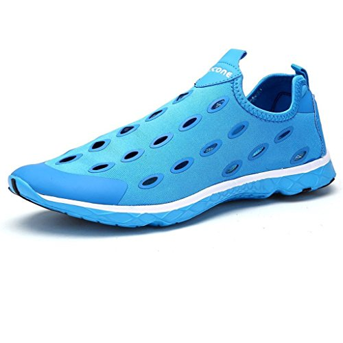 Eagsouni Hombres Quick Drying Aqua Slip De Agua Para Caminar Zapatos Azul