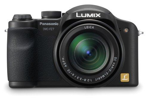 Panasonic DMC-FZ7 6MP Digital Camera with 12x Optical Image Stabilized Zoom (Black) (Panasonic Camera Av Cable)
