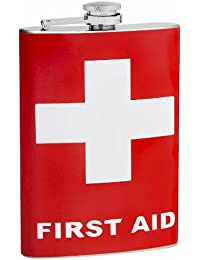 Investment 8oz First Aid Hip Flask, Free Personalization discount