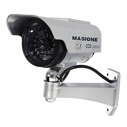 Fake Security Camera - Heavy Duty - Night Vision Look - Solar Power