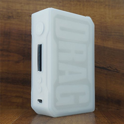 ModShield for VOOPOO DRAG 157W TC Silicone Case ByJojo Sleeve Cover Wrap Shield Skin (Clear Opaque)