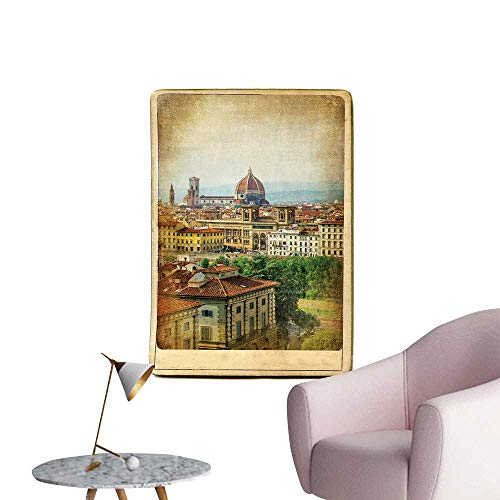 """SeptSonne Vinyl Wall Stickers Europe dmarks Series Vintage car Florence Perfectly Decorated,16"""" W x 24"""" L"""