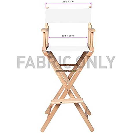 Replacement Cotton Canvas Seat And Back For Director S Chair By Trademark Innovations White