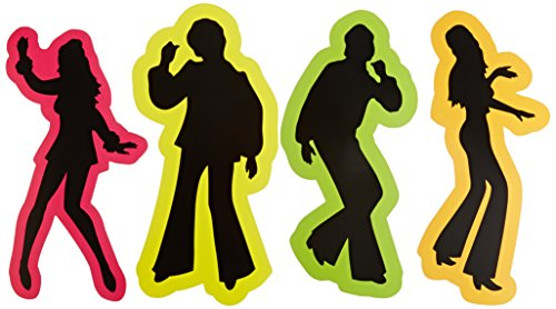 Retro 70's Silhouettes Party Accessory (1 count) (4/Pkg) -