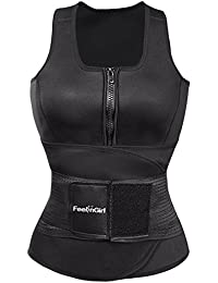 36cf6082528 Neoprene Sauna Suit Tank Top Vest with Adjustable Waist Trimmer Belt (See  The Size Chart