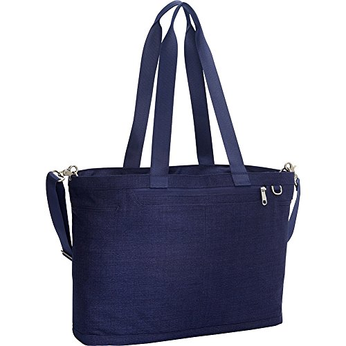 eBags Savvy Laptop Tote 2.0 with RFID Security (Brushed Indigo)