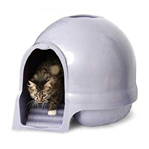 Booda The Best Dome Cleanstep Cat Box, Brushed Nickel, Covered Litter Dome, New 5
