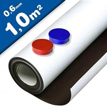 BESCHREIBBAR selbstklebend Eisenfolie 620mm x 500mm x 0,6mm weiß