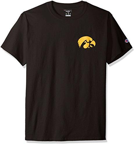 Champion NCAA Iowa Hawkeyes Men's Pride Short Sleeve T-Shirt, X-Large, Black