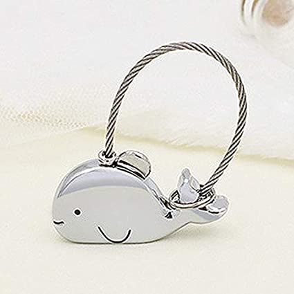 BIGBOBA Cute Little Whale Keyring Keychain Animal Keychain Pendant Girl Gift Keychain 45 * 21MM Bag Pendant Pendant