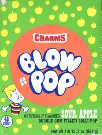 Charms Blow Pops Sour Apple (48 count)