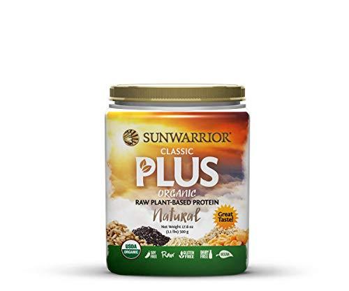 Sunwarrior - Classic Plus, Raw Organic Plant Based Protein, Natural, 20 Servings (1.1 lbs) (Sunwarrior Classic Plus Organic Raw Plant Based Protein)