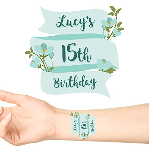 Groovi - Ribbon Banner Birthday Personalised Temporary Tattoos (24 pack) - TATT-1108 for $<!--$23.99-->
