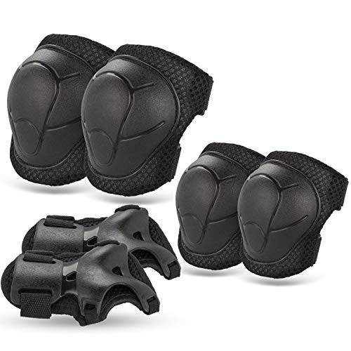 BOSONER Kids/Youth Knee Pad Elbow Pads Guards Protective Gear Set for Roller Skates Cycling BMX Bike Skateboard Inline Skatings Scooter Riding Sports