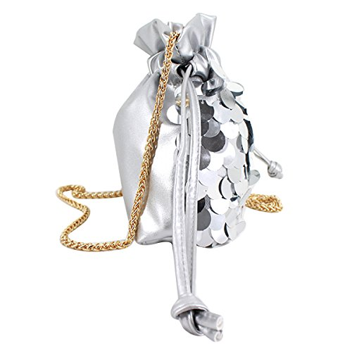 Bag Body Shoulder Meliya Fashion Sequins Girls Silver Cross Women's For Chain Bags Small Tote Drawstring Bucket a7tqH