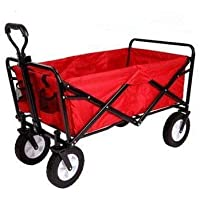 Folding camping multi-function shopping cart R-2022, red shopping trolley