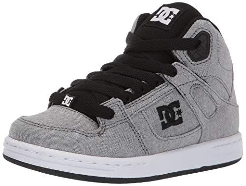 DC Boys' Pure HIGH-TOP TX SE Sneaker, Grey, 1 M M US Little Kid ()