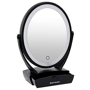 Amazon Com Songmics Led Lighted Desktop Makeup Mirror 1x
