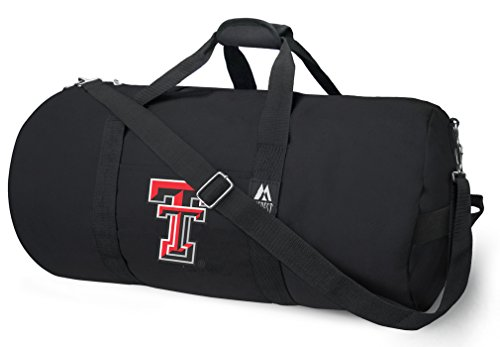 OFFICIAL Texas Tech Red Raiders Duffle Bag or Texas Tech Gym Bags Suitcases by Broad Bay