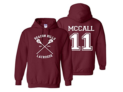 (Superior Apparel McCall 11 Lacrosse Adult Sweatshirt Pullover Hoodie Medium Maroon)