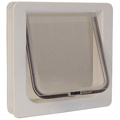 Ideal Pet Products Cat Flap Door with 4 Way Lock, 6.25