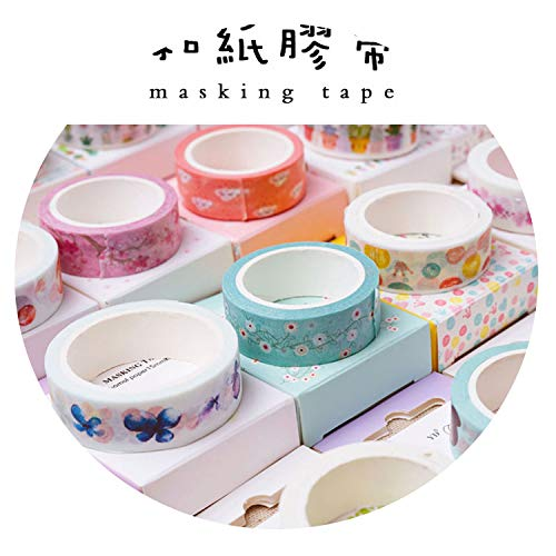 Small Fresh and Paper Tape Antique Stickers Hand Account Decoration Material Handbook Diary Album Decoration Stationery Tape,15mm-Color English]()