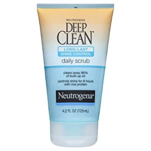 Neutrogena Deep Clean Long-Last Shine Control Daily Face Exfoliating Scrub, 4.2 Fl. Oz.